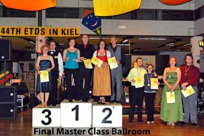 Siegerehrung Master Ballroom; Foto A. Röber