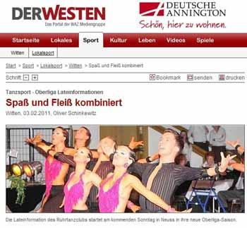 DerWesten 03.02.11: ruhr-tanzclub (Screenshot: Exner)