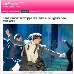 stylingsite.de - Tanzen lernen - Tanztipps der Stars