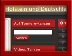Immer oben rechts: Suche bei turniere-tanzen.de