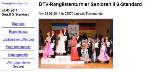TC-Hanseatic Lübeck; Rangliste Senioren II, Foto F. Garnath