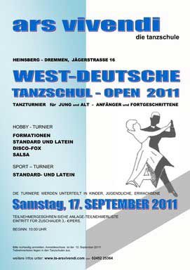 West-Deutsche Tanzschul-Open; Flyer