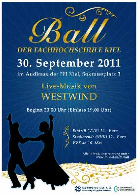 1. Ball der FH-Kiel; Flyer