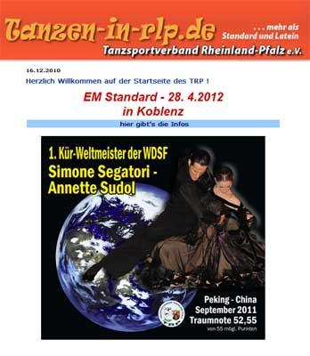 Tanzen-in-RLP.de : Segatori-Sudol 1. Kür-Weltmeister WDSF