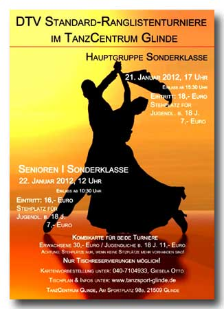 DTV-RL 2012 in Glinde; Flyer: TSC Glinde