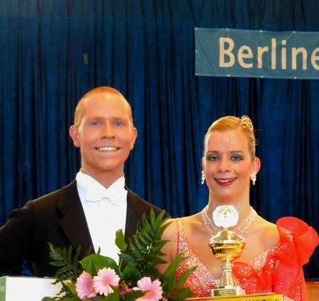 Strahlende Sieger: Schmiel - Hertel; Foto: Hänchen