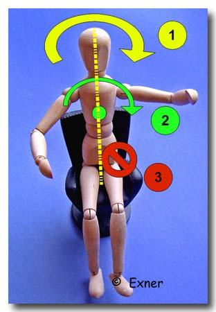 Stuhl-Übungen für optimale Tanzhaltung; Bild Exner