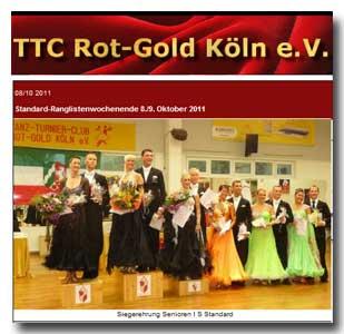 TTC Rot Gold Köln: RL am 08.10.11 Sen. I S
