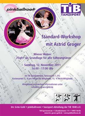 btc-Berlin - Standard-Workshop Wiener Walzer mit Astrid Groger