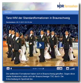 TanzWM Standard-Formationen 2011 - NDR-Video