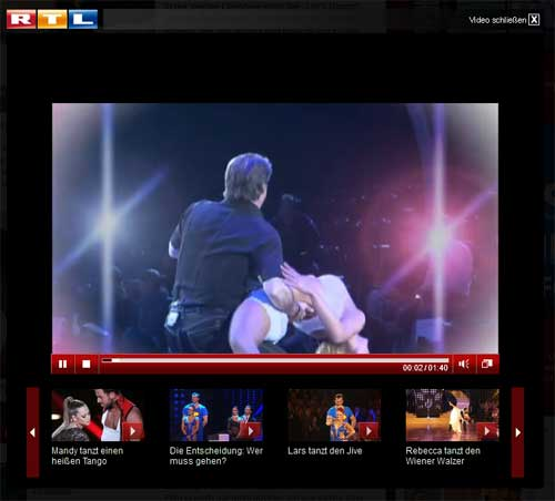 RTL Let-s-Dance als Mottoshow: Dirty-Dancing (Screenshot RTL)