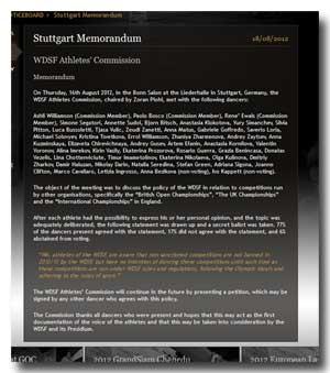 WDSF Stuttgart-Memorandum der GOC 2012