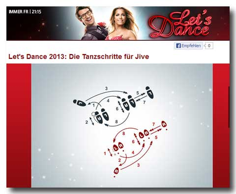 RTL Let' s Dance - Jive Tanzschritte