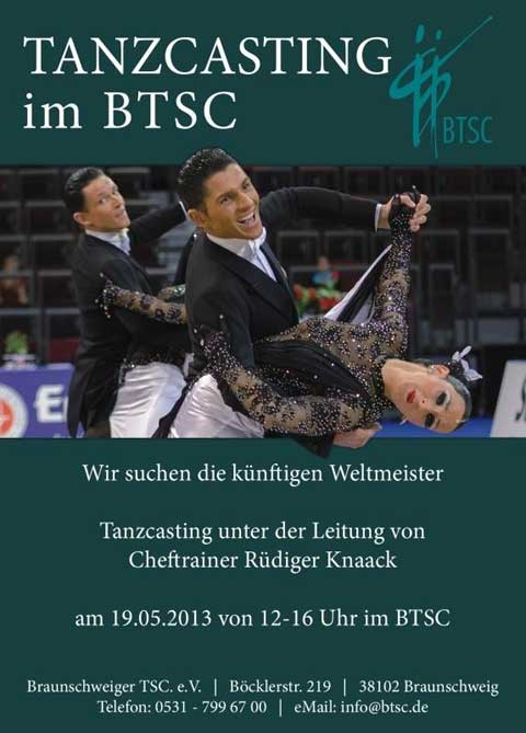 Tanzcasting fr Standard-Formationen im BTSC