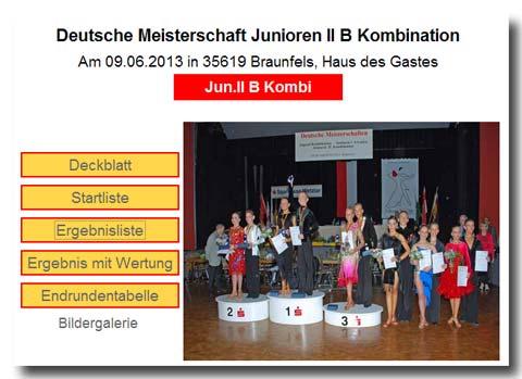 HTV: DM Junioren II B 10-Tänze 2013