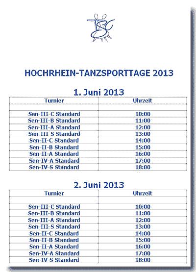HoTaTa 2013 - Tanzsporttage