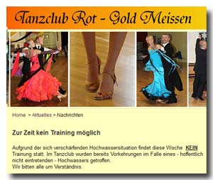TC Rot Gold Meissen - Homepage